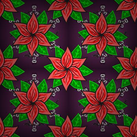 Floral pattern. Flourish ornamental spring garden texture. Flower seamless background. Vector illustration.