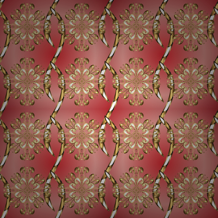 Graphic modern seamless pattern on neutral and pink colors. Seamless floral pattern. Wallpaper baroque, damask. Seamless vector background.