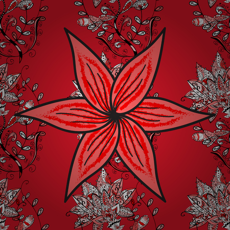 Nice pattern in the small flower. Floral background. -red, pink and black flowers. Flower composition. Vector pattern. Nature. Floral collage.