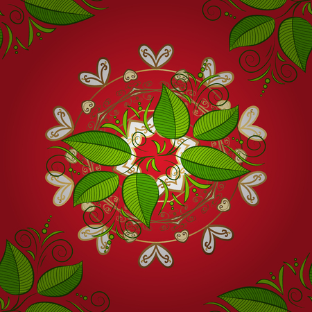 Fall leaves background. Of bright with shadows. Seamless graphic design with amazing leaves. Beautiful leaves on red, white and green colors. Vector illustration.