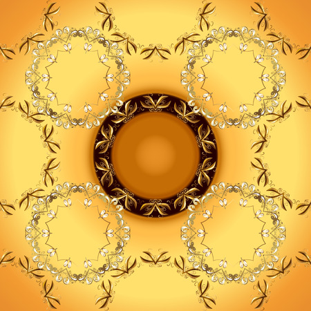 Seamless floral pattern. Seamless vector background. Sketch baroque, damask. Graphic modern seamless pattern on orange and yellow colors.