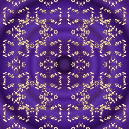 Classic vintage background. Classic vector golden seamless pattern. Traditional orient ornament. Seamless pattern on violet and purple colors with golden elements.