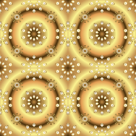 Seamless oriental ornament in the style of baroque. Vector traditional classic golden seamless pattern on colors.