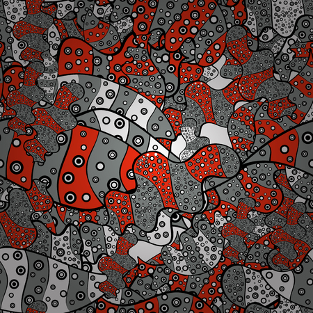 Modern stylish texture. Vector - stock. Seamless Gentle, spring on red, black and gray colors.