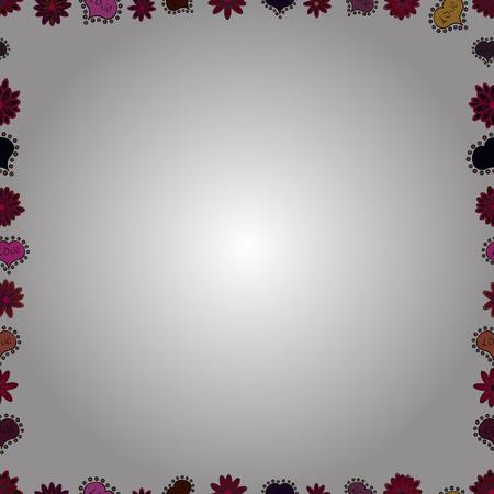Seamless. Hand drawn vector border frame doodles. Vector illustration. Illustration