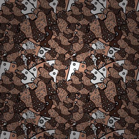 Ultrafashionable fabric pattern. Vector illustration. Abstract motif background.