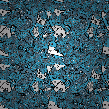 Abstract motif background. Ultrafashionable fabric pattern. Vector illustration. Seamless pattern. Ilustração