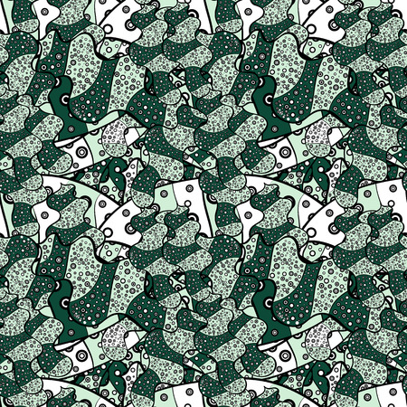 Vector - stock. Modern stylish texture. Seamless Gentle, spring on neutral, green and black colors.