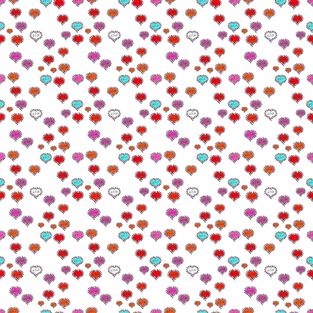 Texture background texture. Vector illustration. White, black and pink. Valentines day hearts.