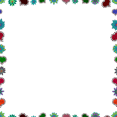 Vector. Picture in white, red and blue colors. Seamless pattern. Doodles elements hand drawn frames. 일러스트