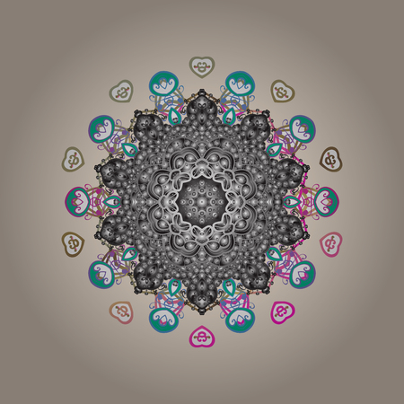 Flat design. Vector winter snowflakes on colorful background. Vector snowflake icon. Vector illustration. Snowflake icon, isolated.