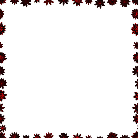 Quadratic frames doodles. Seamless. Vector. Picture in white, brown and black colors.