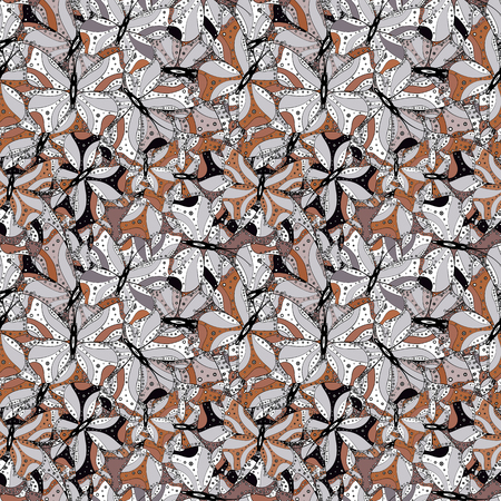 Doodles cute pattern. It can be used on wallpaper, mug prints, baby apparels, wrapping boxes etc. Nice background. Vector - stock. White, black and gray on colors. Seamless Beautiful fabric pattern.