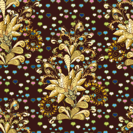 Simple cute pattern in small-scale flowers. Floral seamless background for textile or book covers, manufacturing, wallpapers, print, gift wrap and scrapbooking. Vector illustration. Stock Illustratie