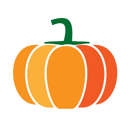 calabaza simlple arte ilustración geométrica. Icono, símbolo gráfico, parte del diseño de la imagen, cocina, frutas y verduras Ilustración de vector