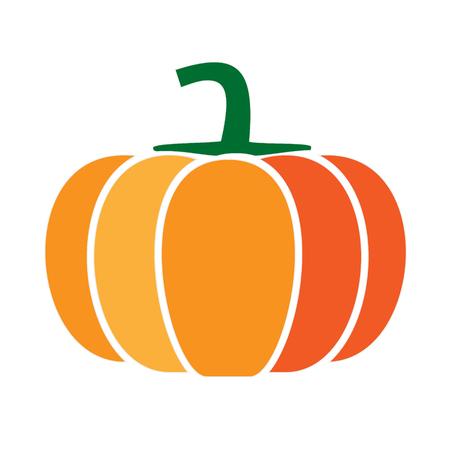 Kürbis einfache Kunst geometrische Illustration. Symbol, grafisches Symbol, Teil der Bildgestaltung, Küche, Obst und Gemüse Vektorgrafik