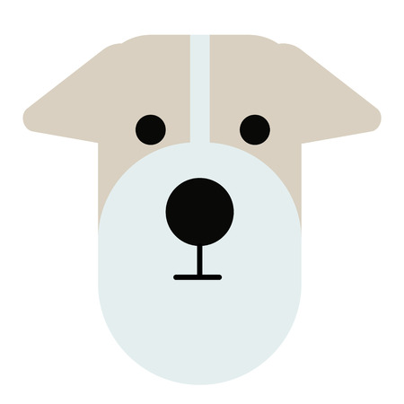 terrier dog simlple art geometric illustration. Icon, graphic symbol, part of image design . Dogs of different breeds Illustration