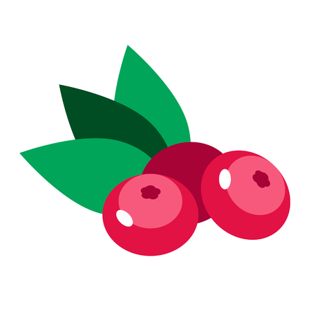 cowberry simlple art geometric illustration. Icon, graphic symbol, part of image design , kitchen, fruit and vegetables