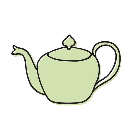 tea pot hand drawn illustration. Icon, graphic symbol, part of image design , kitchen hardware