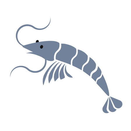 shrimp simple art geometric illustration Illustration