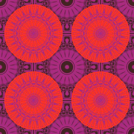 Circular tribal like seamless pattern, abstract colorful background, texture. seamless pattern, abstract colorful background, texture. Ilustração