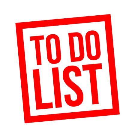 to do list stamp