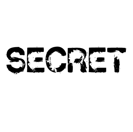 Secret stamp on white background Sticker label