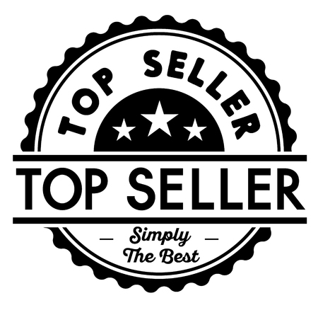 Top Seller label on white background Sticker label