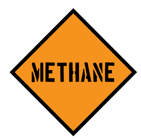 methane sign on white Stock Vector - 118884965