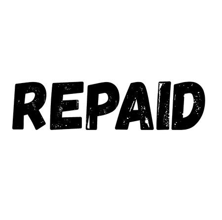 Repaid label on white background Sticker label Ilustração