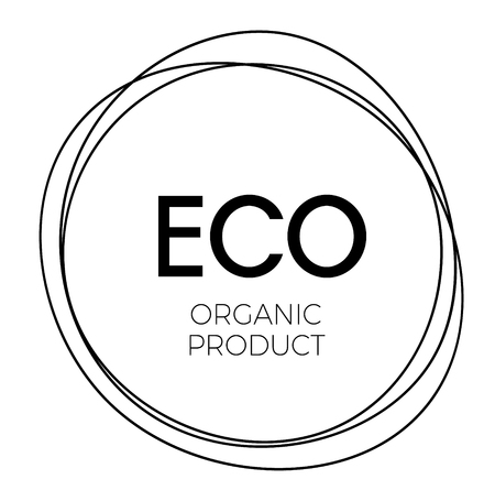 eco organic product label 矢量图像