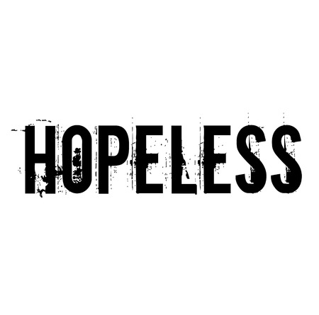 hopeless stamp on white