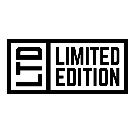 Limited Edition stamp on white background Sticker label