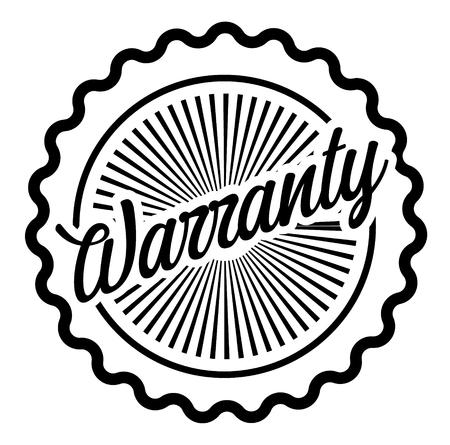 Warranty stamp on white background Sticker label