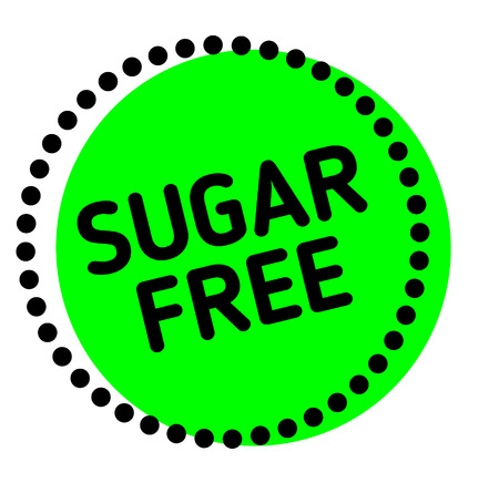 Sugar Free label on white background Sticker label