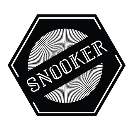 snooker stamp on white background Sticker label
