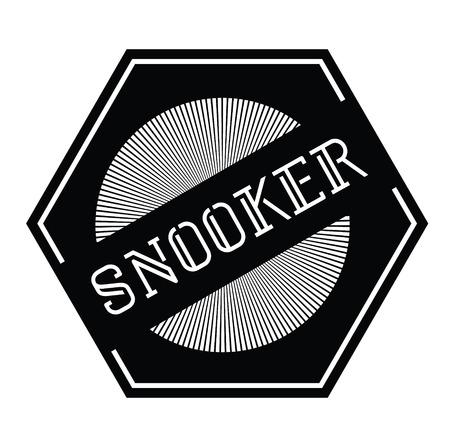 snooker stamp on white background Sticker label