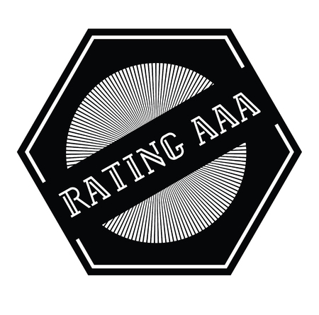 rating aaa stamp on white background Sticker label Illustration