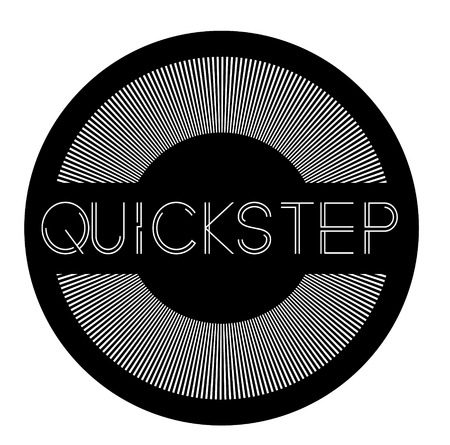quickstep label on white background Sticker label Illusztráció