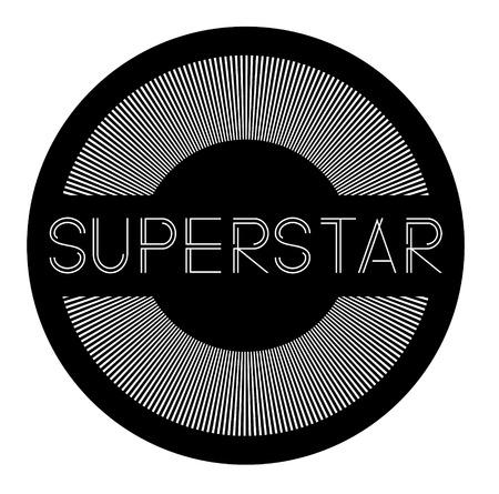 superstar label on white