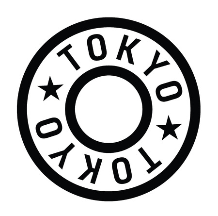 Tokyo stamp on white background Sticker label