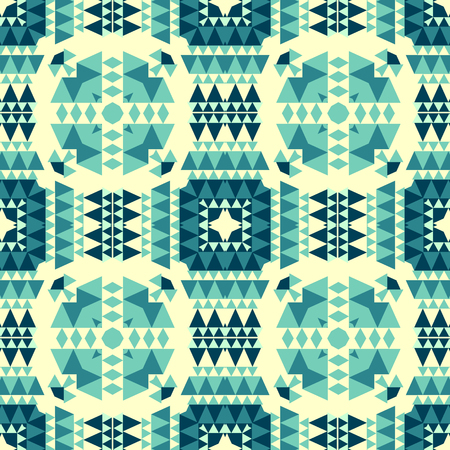 Geometric with native, tribal look seamless pattern, abstract colorful background, texture.