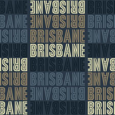 Brisbane, Australia seamless pattern, typographic city background texture Illustration