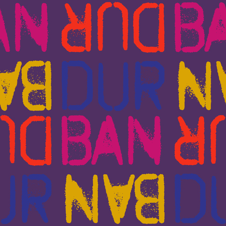 Durban, South Africa seamless pattern, typographic city background, texture
