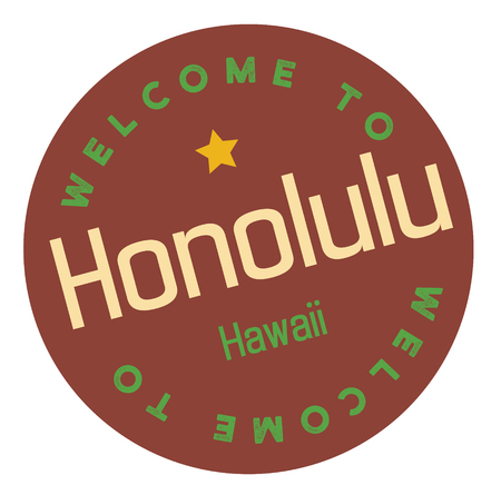 Welcome to Honolulu Hawaii Illustration