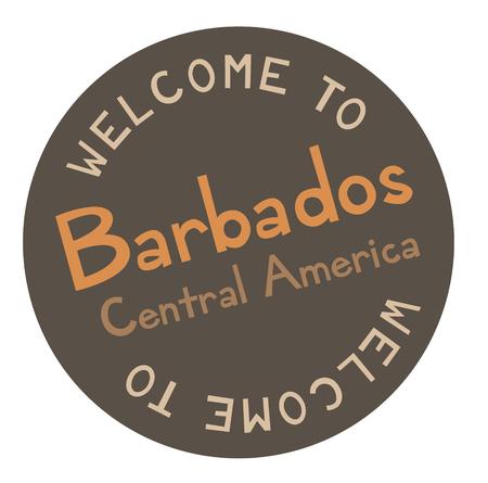 Bienvenue à la Barbade en Amérique centrale Vecteurs