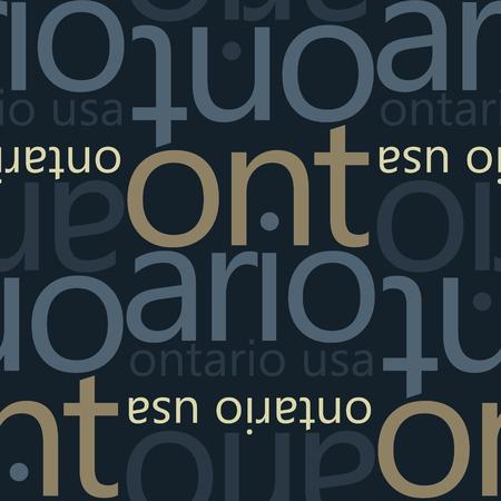 Ontario, USA seamless pattern Иллюстрация