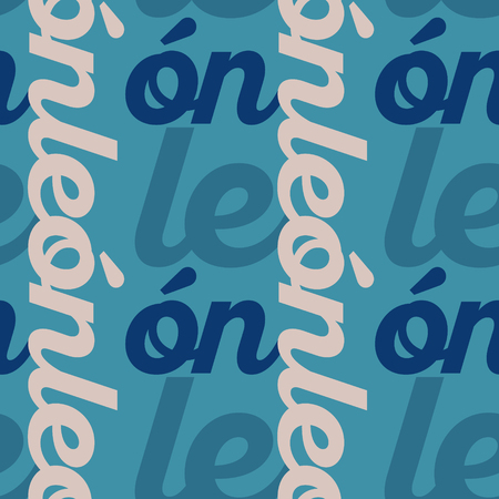 Leon, mexico seamless pattern, typographic city background texture