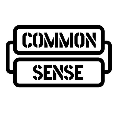 Gezond verstand stempel op witte achtergrond. Sticker of etiket.
