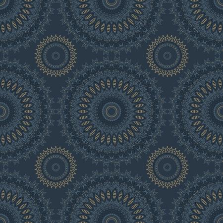 Circular lacy seamless pattern